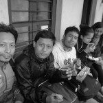 After the drizzle, having tea @nage gompa