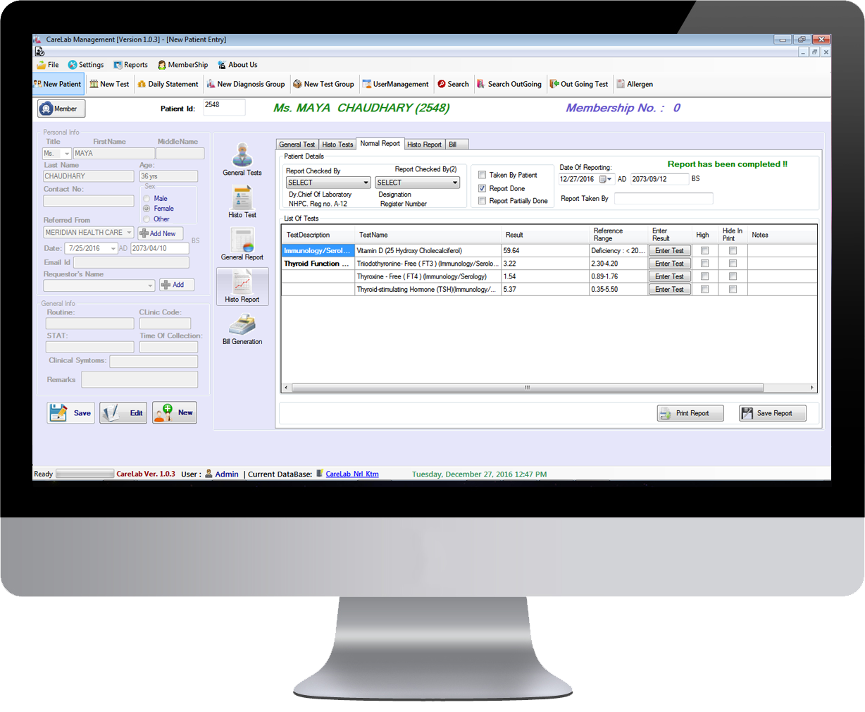 Lunivacare Lab Management System